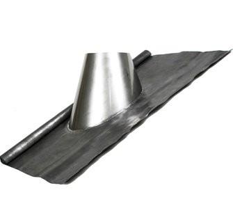 Dakdoorvoer 27-52° met loodslab en regenkraag