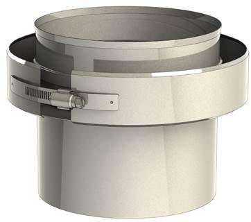 Adaptador Caldera/ tubo 250 a 250 Doble pared