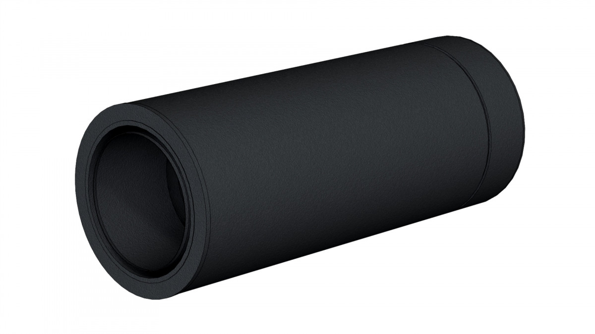 Aansluiting dikwandig staal naar dubbelwandig; met nisbus. h= 44 cm