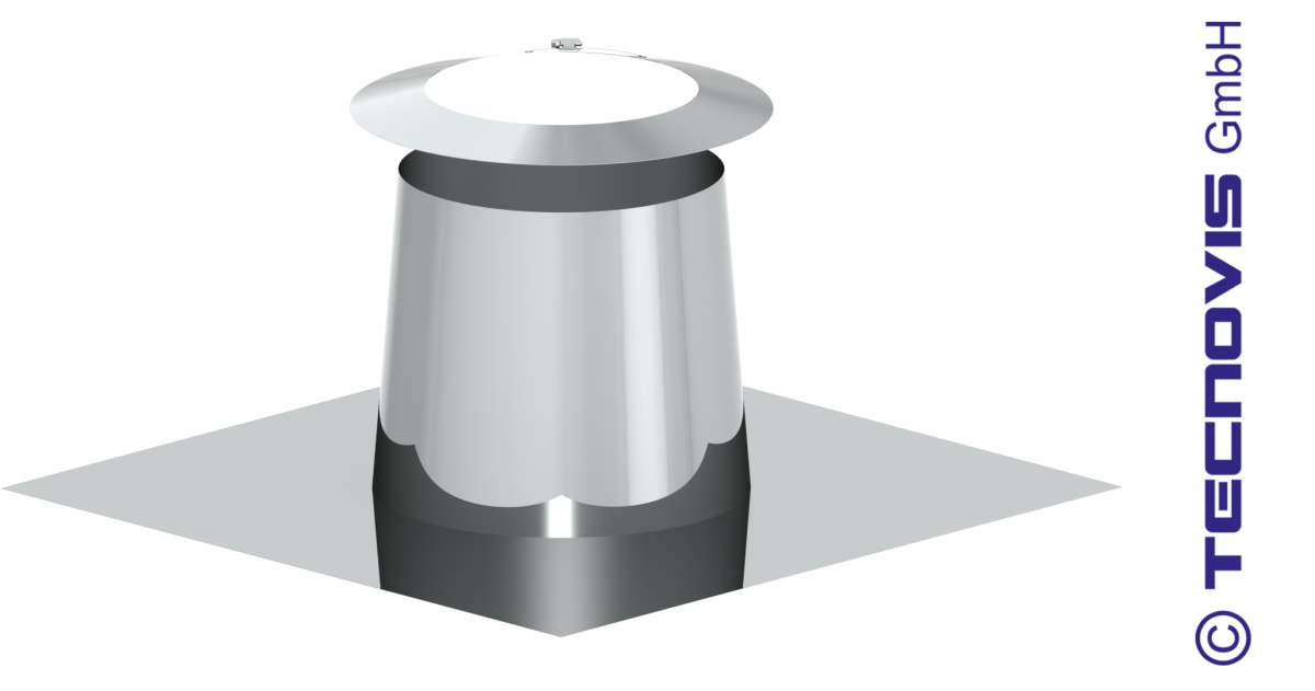Dakplaat voor vlak dak 0-5° met stormkraag