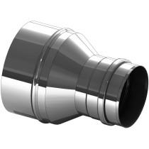 Versmalling inox 200 naar 180 mm